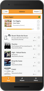 The social playlist encourages guests to chat about the music