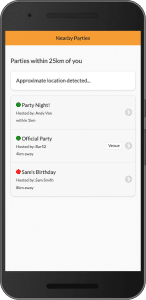 Guests can easily join a nearby Spotify party