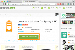 Use the Android APK file to host a Jukestar party on your PC or Mac
